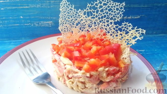 Топ 10 рецептов салат из крабовых палочек и помидоров