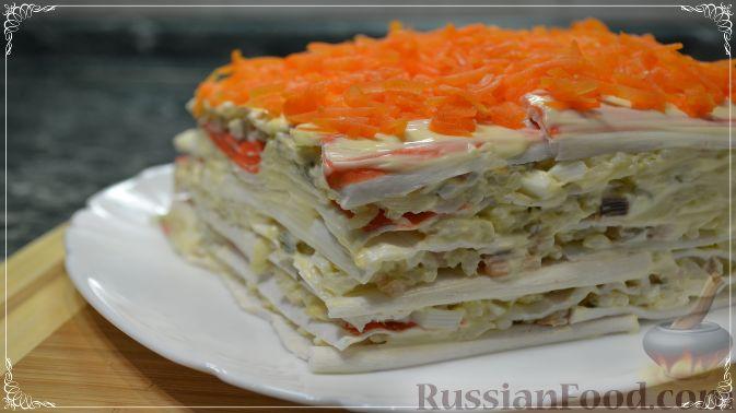Топ 10 рецептов салат из семги огурцов и яиц