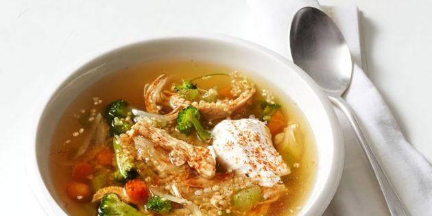 Вкусный суп из курицы