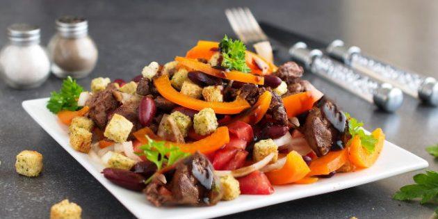 10 лучших рецептов салат с Кириешками и фасолью