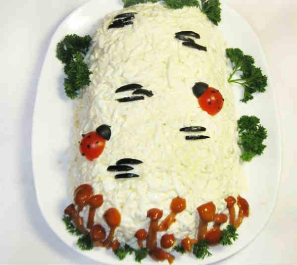 Топ 10 рецептов березка салат