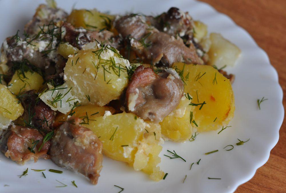 Пупки куриные рецепт тушеные в сметане