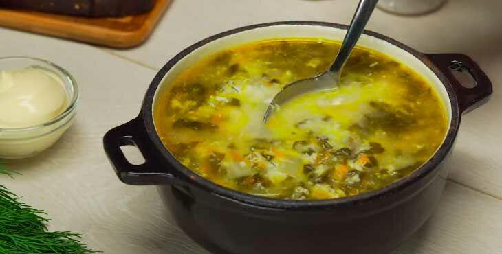 Суп щавелевый с мясом рецепт с фото