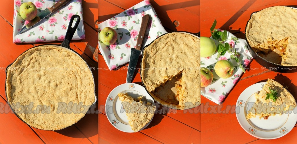 Шарлотка с яблоками рецепт без сливочного масла
