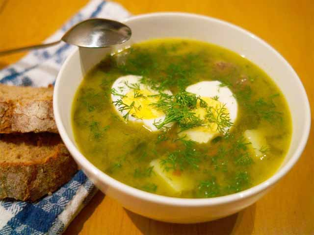 Суп из консервированного щавеля рецепт