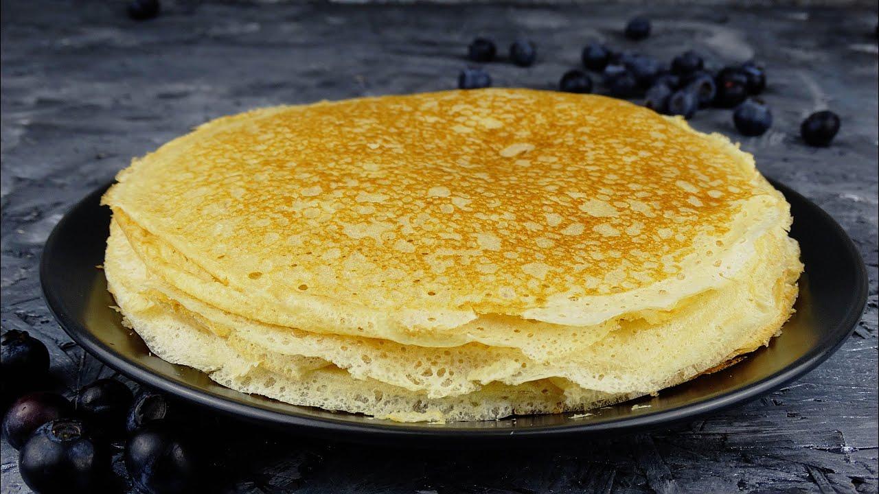 Тонкие блины на кефире и молоке вкусные блинчики с добавлением кефира рецепт с пошаговыми фото и видео