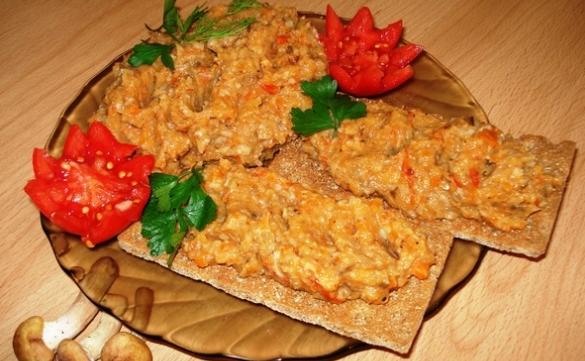 Икра из опят на зиму рецепт через мясорубку с морковью и луком чесноком