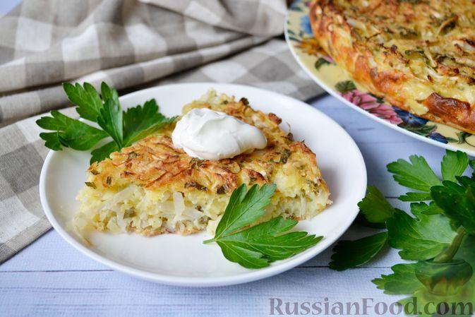 Пирог с капустой и яйцом на кефире в духовке пошаговый рецепт с фото