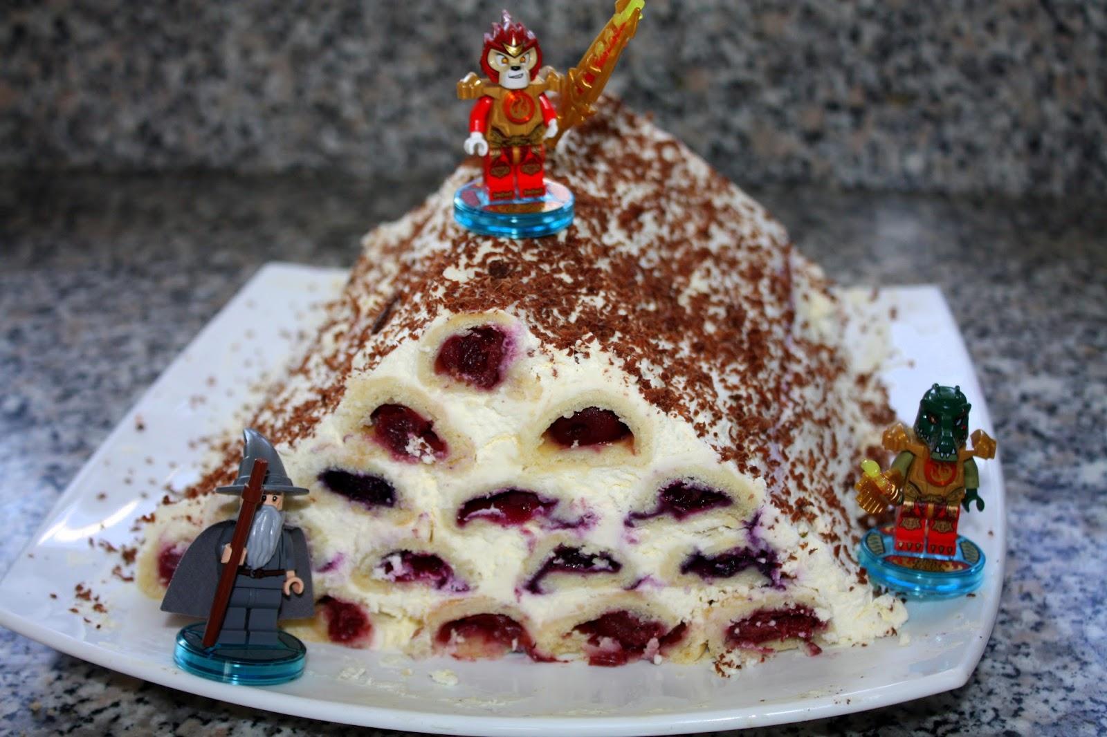 """Торт """"Дрова"""" под снегом"""