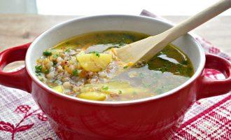 Суп из курицы с гречкой и картошкой
