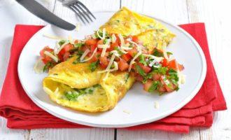 Омлет с сырным соусом Хайнц рецепт