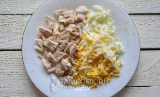 Салат Царский с курицей и шампиньонами